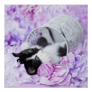Pippa Purple Floral Poster
