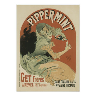 Pippermint Drink by Jules Chéret, 1899 Poster