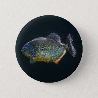 Piranha Badge 2 Inch Round Button