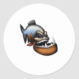 Piranha Classic Round Sticker