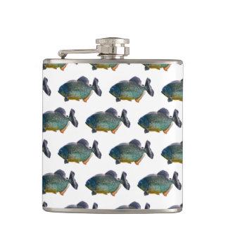 Piranha Frenzy Hip Flask (choose colour)