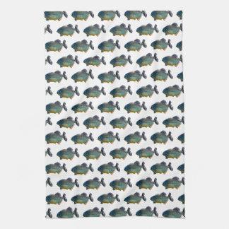 Piranha Frenzy Kitchen Towel (choose colour)