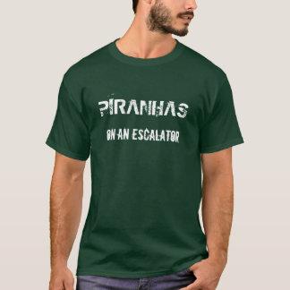 PIRANHAS ON AN ESCALATOR T-Shirt