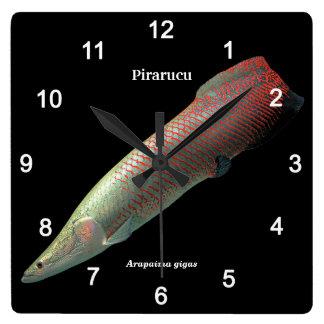 Pirarucu and Arapaima gigas Square Wall Clock