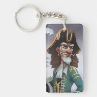 Pirate101 Captain Avery Single-Sided Rectangular Acrylic Keychain