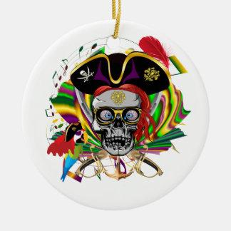 Pirate-2, NEW ORLEANS Ceramic Ornament