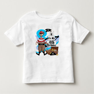 Pirate 4th Birthday Tshirts and Gifts