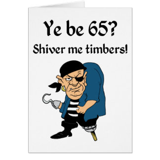 Pirate 65th Birthday Card