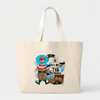 Pirate 7th Birthday Tshirts and Gifts Tote Bags