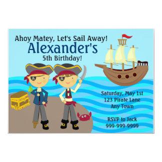 Pirate Adventure Birthday Party Invitation
