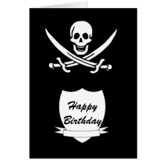 Pirate and monogram card