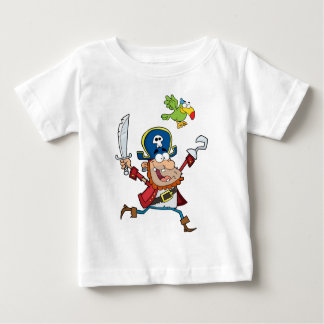 PIRATE AND PARROT CARTOON BABY T-Shirt