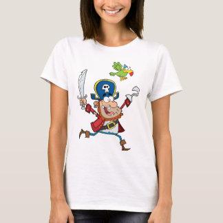 PIRATE AND PARROT CARTOON T-Shirt