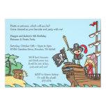 "Pirate and Princess Invitations 5"" X 7"" Invitation Card"