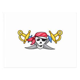PIRATE AND SWORDS POSTCARD