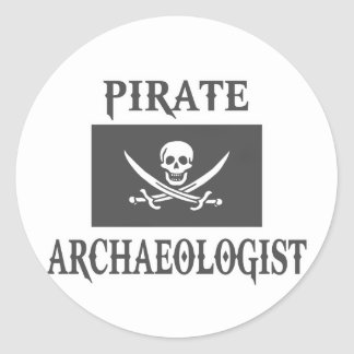 Pirate Archaeologist Classic Round Sticker