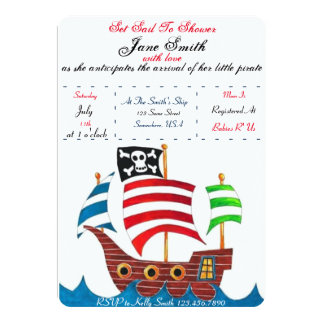 Pirate Baby Shower Card