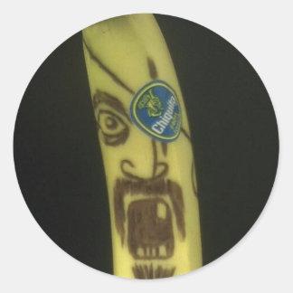 Pirate Banana Classic Round Sticker