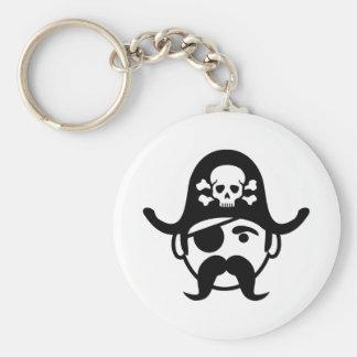 Pirate Basic Round Button Keychain