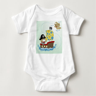 Pirate Bear Hunting For Treasure Baby Bodysuit