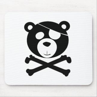 pirate bear mouse pad
