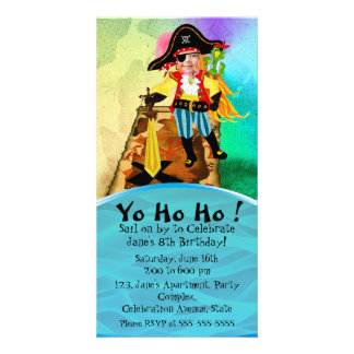 Pirate birthday invitations for girls photo cards