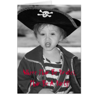 Pirate Birthday Invite - Customized