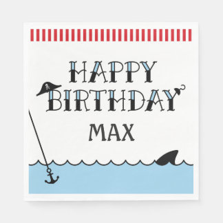 Pirate Birthday Party Paper Napkin