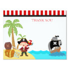 Pirate Birthday Thank You Notes Card
