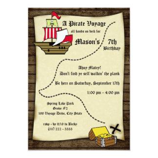 Pirate Birthday Voyage Map Card