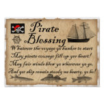 Pirate Blessing Kids Pirates Poster