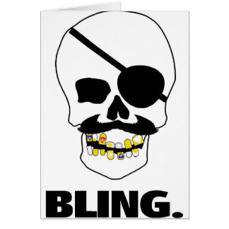 Pirate Bling Greeting Card