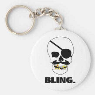 Pirate Bling Basic Round Button Keychain