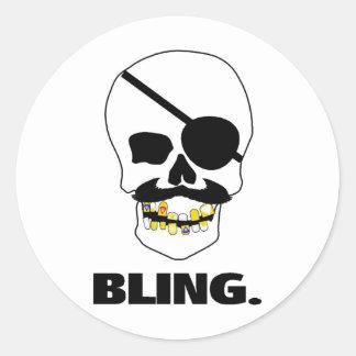Pirate Bling Round Sticker