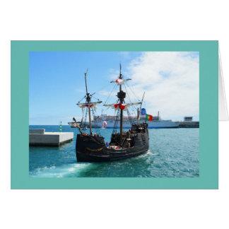 Pirate boat in Madeira Card