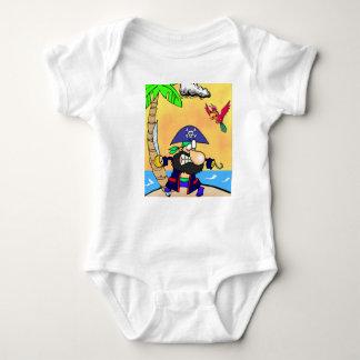 Pirate bodystocking baby bodysuit