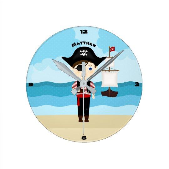 Pirate Boy Clock