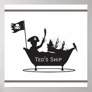 Pirate Boy Print