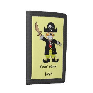 pirate boy tri-fold wallet
