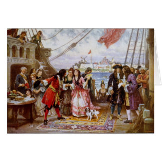 Pirate Captain Kidd in NY Harbor Card