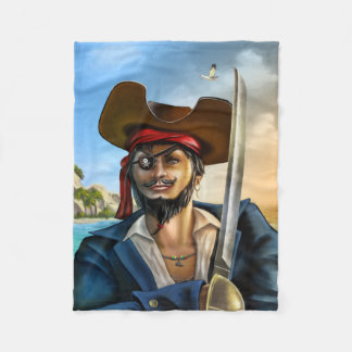 Pirate Captain Small Fleece Blanket