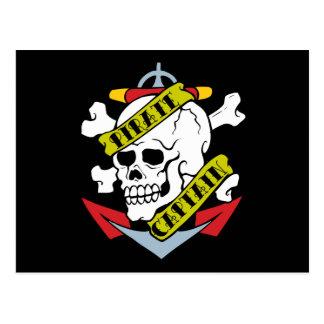 Pirate Captain Tattoo Postcard