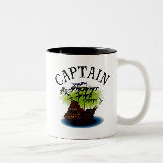 Pirate Captain Two-Tone Coffee Mug
