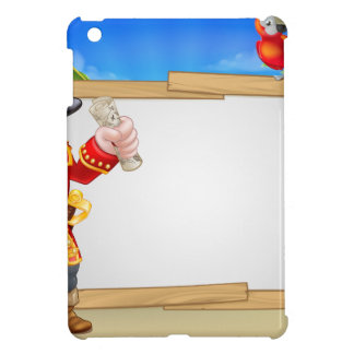 Pirate Cartoon Beach Sign Background Case For The iPad Mini