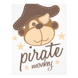 Pirate cartoon cool letterhead