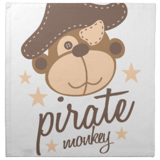 Pirate cartoon cool napkin