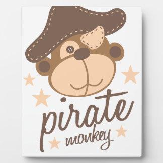 Pirate cartoon cool plaque