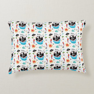 Pirate cartoon pattern for toddlers decorative pillow