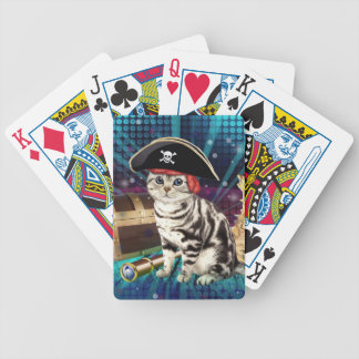 pirate cat bicycle playing cards