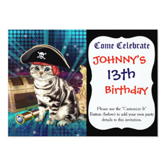 pirate cat card
